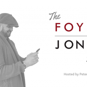 Picture of Peter Jones with The Foyne Jones Show logo